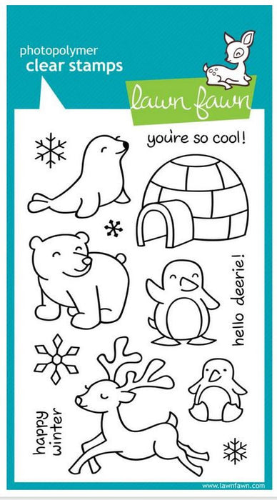 "Lawn Fawn Clear Stamps 4"" x 6"" Critters In The Snow LF312 
