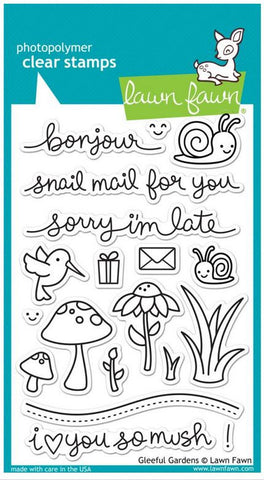 "Lawn Fawn Clear Stamps 4"" x 6"" Gleeful Gardens LF799 