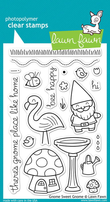 "Lawn Fawn Clear Stamps 4"" x 6"" Gnome Sweet Gnome LF384 