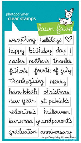 "Lawn Fawn Clear Stamps 4"" x 6"" Happy Everything LF430 