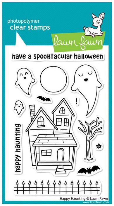 "Lawn Fawn Clear Stamps 4"" x 6"" Happy Haunting LF357 