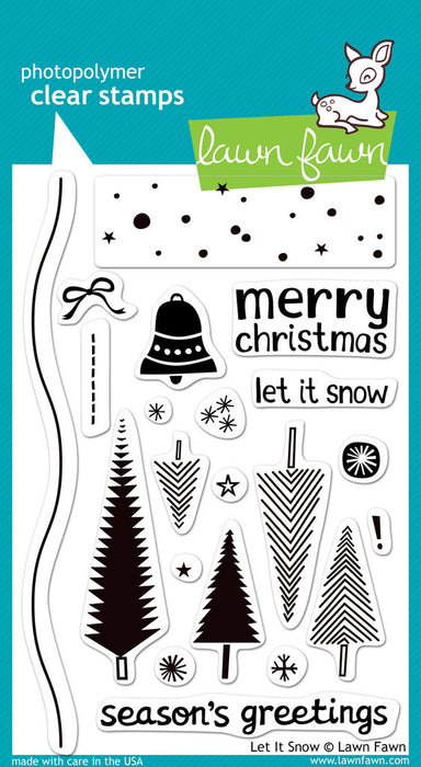 "Lawn Fawn Clear Stamps 4"" x 6"" Let It Snow LF427 