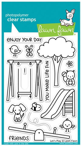 "Lawn Fawn Clear Stamps 4"" x 6"" Lets Play LF848 