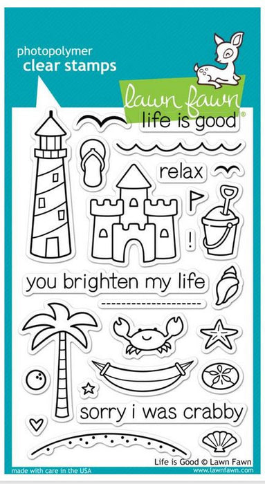 "Lawn Fawn Clear Stamps 4"" x 6"" Life Is Good LF680 