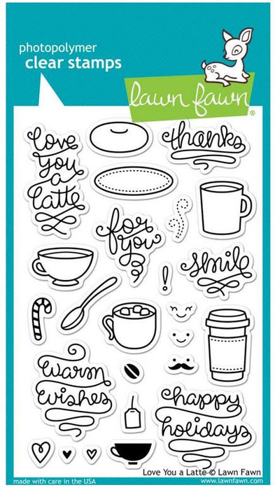 "Lawn Fawn Clear Stamps 4"" x 6"" Love You a Latte LF704 