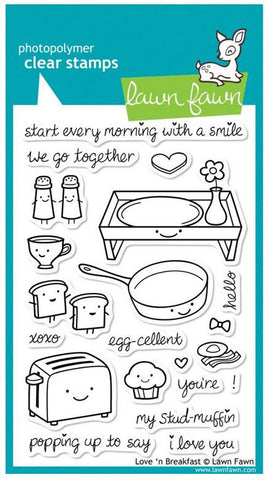 "Lawn Fawn Clear Stamps 4"" x 6"" Love 'n Breakfast LF365 