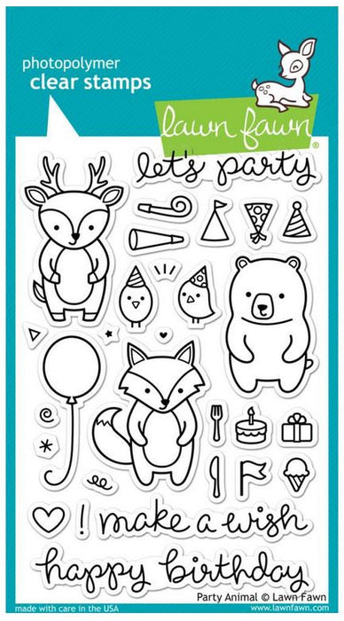 "Lawn Fawn Clear Stamps 4"" x 6"" Party Animal LF893 