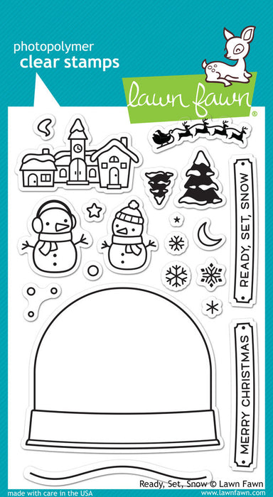 "Lawn Fawn Clear Stamps 4"" x 6"" Ready, Set, Snow LF973 