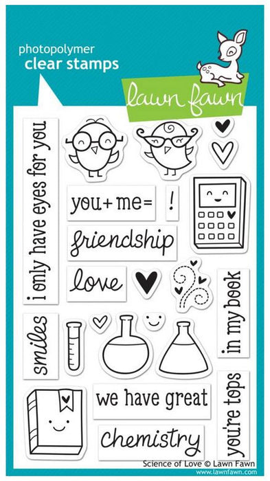 "Lawn Fawn Clear Stamps 4"" x 6"" Science Of Love LF597 