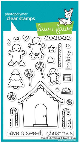 "Lawn Fawn Clear Stamps 4"" x 6"" Sweet Christmas LF426 
