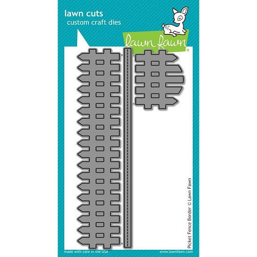Lawn Fawn Dies Lawn Cuts Custom Craft Border Die Picket Fence LF853 | Maple Treehouse