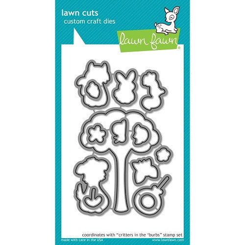 Lawn Fawn Dies Lawn Cuts Custom Craft Die Critters In The 'Burbs LF685 | Maple Treehouse