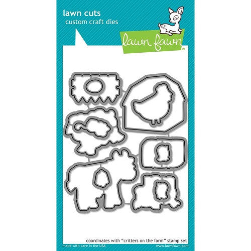 Lawn Fawn Dies Lawn Cuts Custom Craft Die Critters On The Farm LF686 | Maple Treehouse