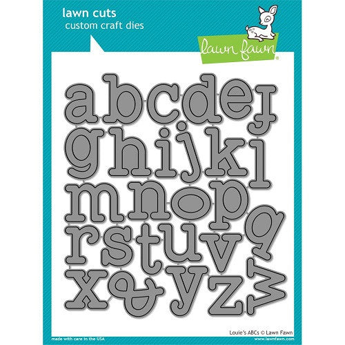 Lawn Fawn Dies Lawn Cuts Custom Craft Die Louie's ABC's LF688 | Maple Treehouse