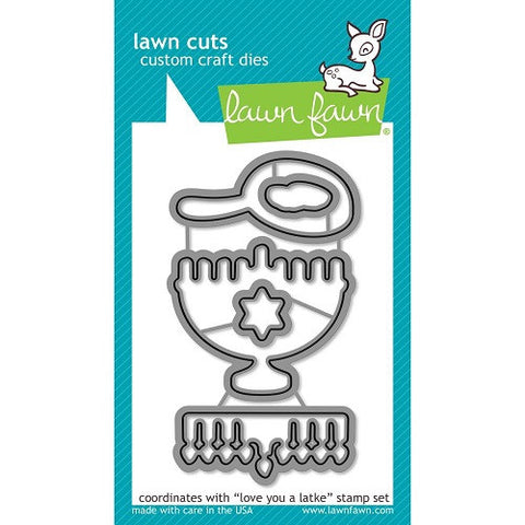 Lawn Fawn Dies Lawn Cuts Custom Craft Die Love You A Latke LF942 | Maple Treehouse