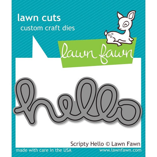 Lawn Fawn Dies Lawn Cuts Custom Craft Die Scripty Hello LF610 | Maple Treehouse