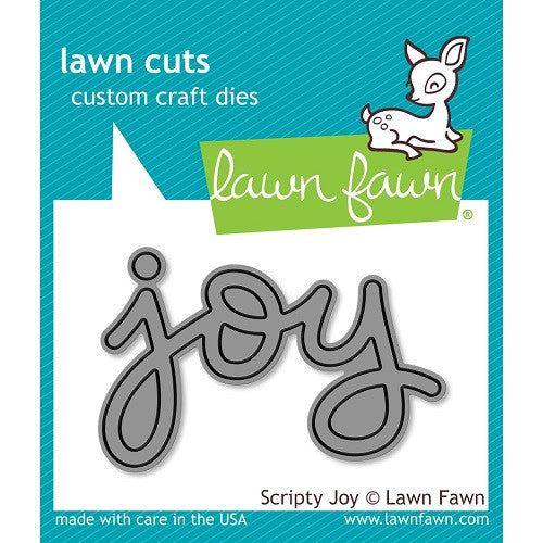 Lawn Fawn Dies Lawn Cuts Custom Craft Die Scripty Joy LF774 | Maple Treehouse