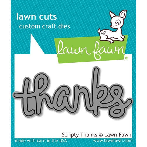 Lawn Fawn Dies Lawn Cuts Custom Craft Die Scripty Thanks LF690 | Maple Treehouse