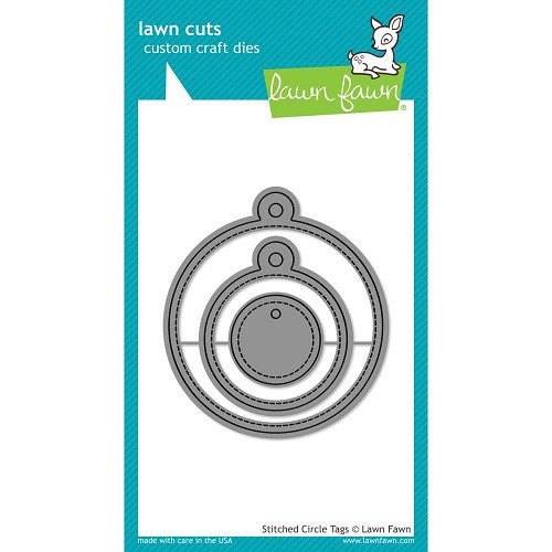 Lawn Fawn Dies Lawn Cuts Custom Craft Die Stitched Circle Tags LF989 | Maple Treehouse