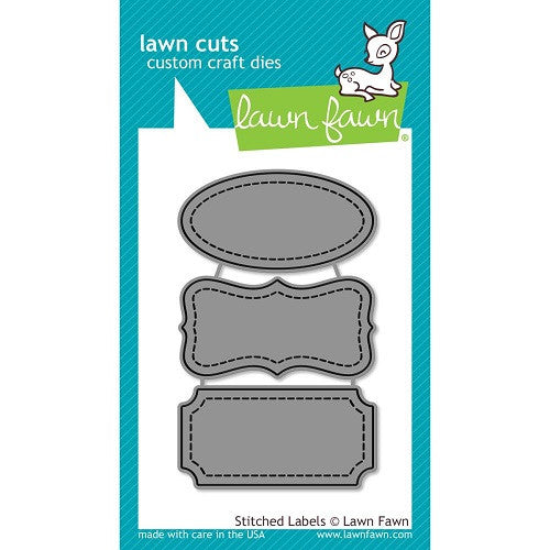 Lawn Fawn Dies Lawn Cuts Custom Craft Die Stitched Labels LF858 | Maple Treehouse