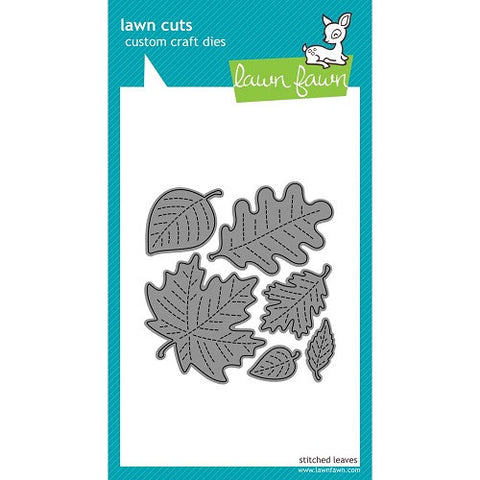 Lawn Fawn Dies Lawn Cuts Custom Craft Die Stitched Leaves LF577 | Maple Treehouse