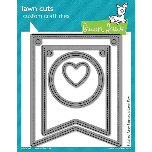 Lawn Fawn Dies Lawn Cuts Custom Craft Die Stitched Party Banners LF687 | Maple Treehouse