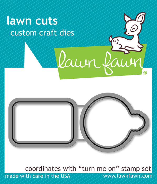 Lawn Fawn Dies Lawn Cuts Custom Craft Die Turn Me On LF1021 | Maple Treehouse