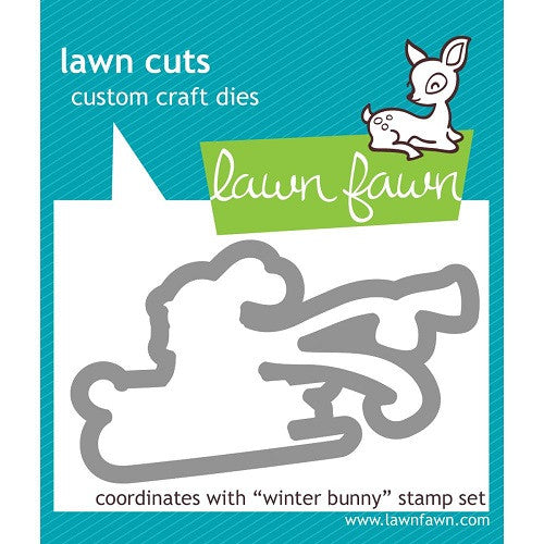 Lawn Fawn Dies Lawn Cuts Custom Craft Die Winter Bunny LF581 | Maple Treehouse