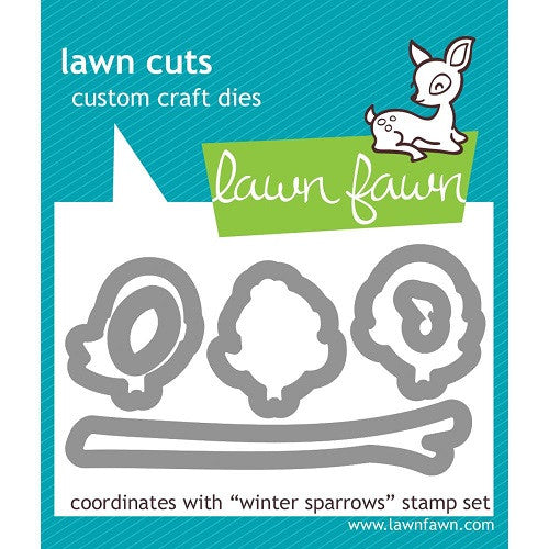 Lawn Fawn Dies Lawn Cuts Custom Craft Die Winter Sparrows LF573 | Maple Treehouse
