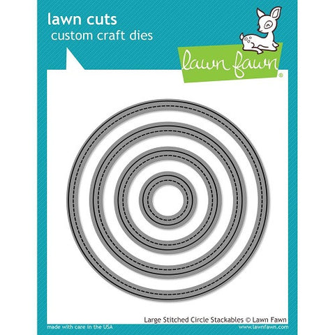 Lawn Fawn Dies Lawn Cuts Custom Craft Stackables Dies Large Stitched Circles LF795 | Maple Treehouse