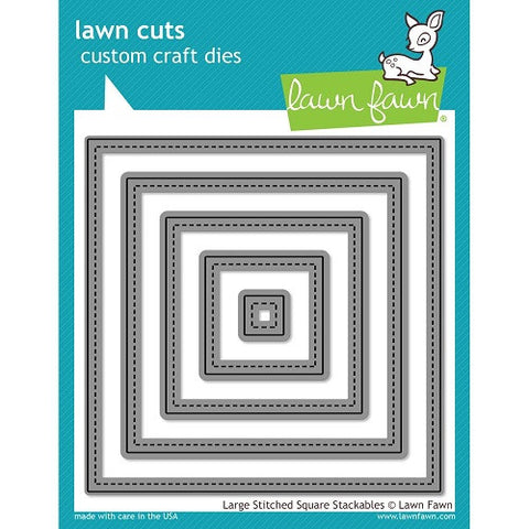 Lawn Fawn Dies Lawn Cuts Custom Craft Stackables Dies Large Stitched Squares LF837 | Maple Treehouse