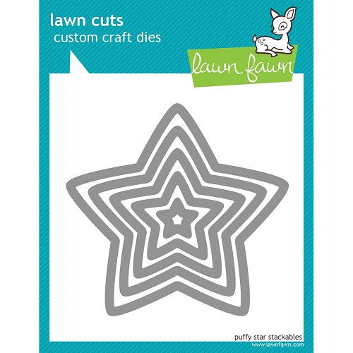Lawn Fawn Dies Lawn Cuts Custom Craft Stackables Dies Puffy Star LF521 | Maple Treehouse