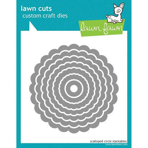 Lawn Fawn Dies Lawn Cuts Custom Craft Stackables Dies Scallop Circles LF523 | Maple Treehouse