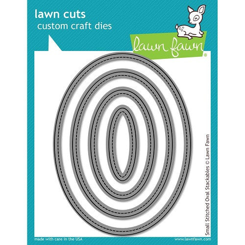Lawn Fawn Dies Lawn Cuts Custom Craft Stackables Dies Small Stitched Ovals LF909 | Maple Treehouse