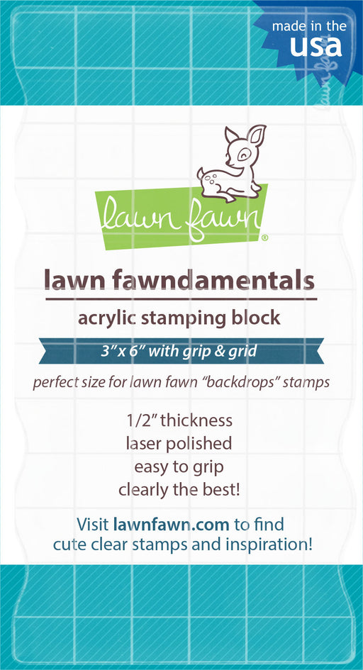 "Lawn Fawn 3"" x 6"" Block With Grip & Grid LF1044 