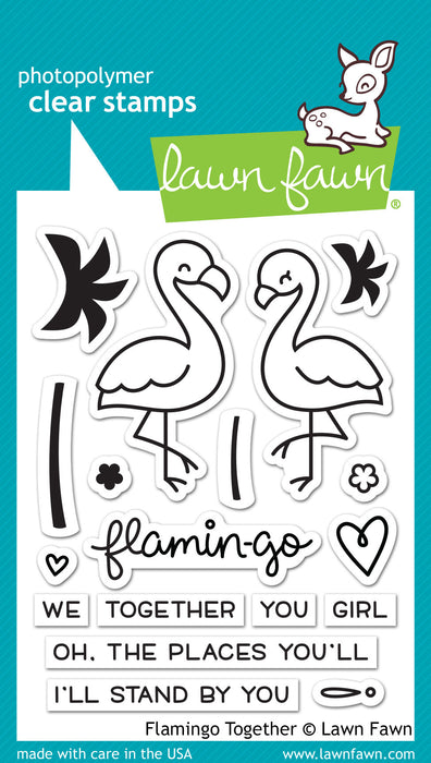 "Lawn Fawn Clear Stamps 3"" x 4"" Flamingo Together LF1173 