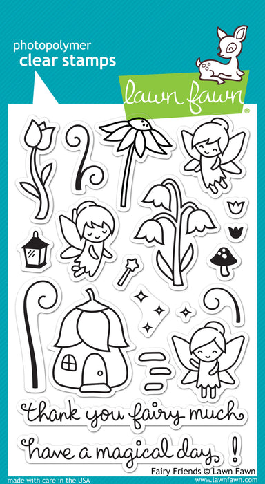 "Lawn Fawn Clear Stamps 4"" x 6"" Fairy Friends LF1057 