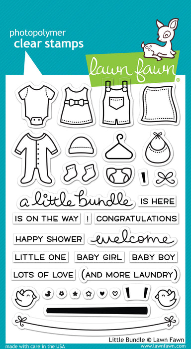"Lawn Fawn Clear Stamps 4"" x 6"" Little Bundle LF1127 