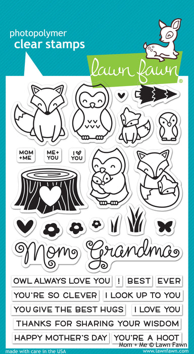 "Lawn Fawn Clear Stamps 4"" x 6"" Mom + Me LF1134 