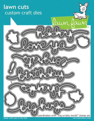 Lawn Fawn Dies Lawn Cuts Custom Craft Die Big Scripty Words Lawn Cuts LF1172 | Maple Treehouse