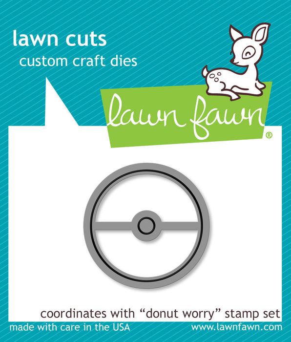Lawn Fawn Dies Lawn Cuts Custom Craft Die Donut Worry LF1137 | Maple Treehouse