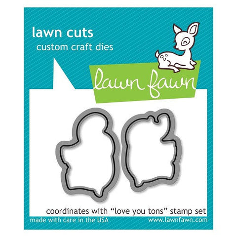 Lawn Fawn Dies Lawn Cuts Custom Craft Die Love You Tons LF600 | Maple Treehouse