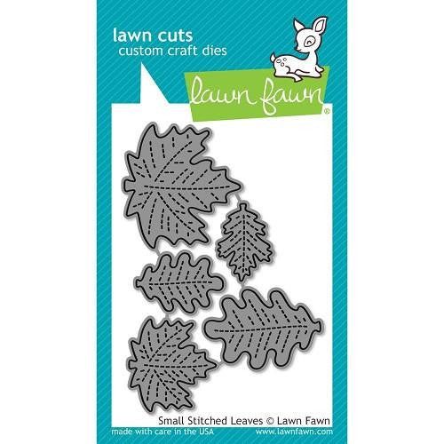 Lawn Fawn Dies Lawn Cuts Custom Craft Die Small Stitched Leaves LF994 | Maple Treehouse