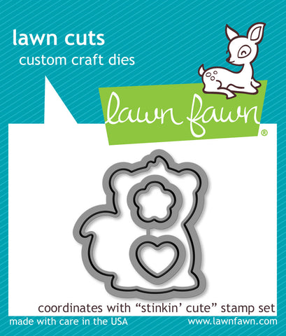 Lawn Fawn Dies Lawn Cuts Custom Craft Die Stinkin Cute Lawn Cuts LF1023 | Maple Treehouse