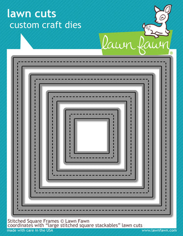 Lawn Fawn Dies Lawn Cuts Custom Craft Die Stitched Square Frames LF1143 | Maple Treehouse