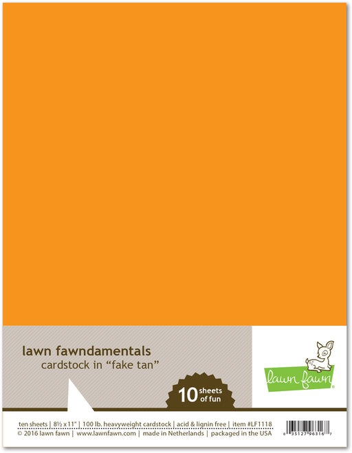 "Lawn Fawn Fake Tan Cardstock 8.5"" x 11"" LF1118 