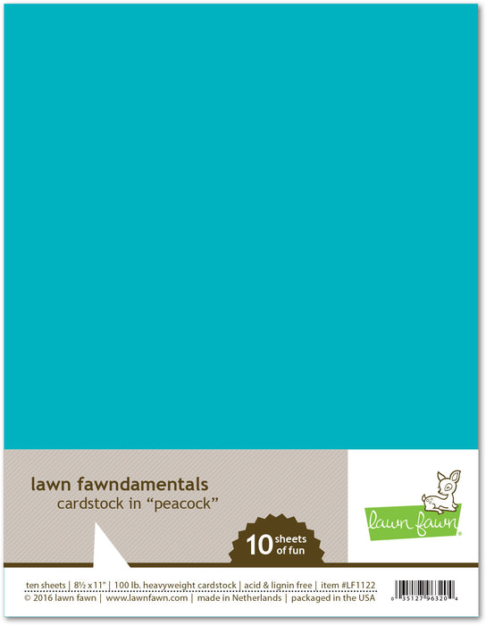 "Lawn Fawn Peacock Cardstock 8.5"" x 11"" LF1122 