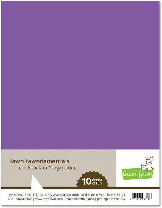 "Lawn Fawn Sugarplum Cardstock 8.5"" x 11"" LF1124 
