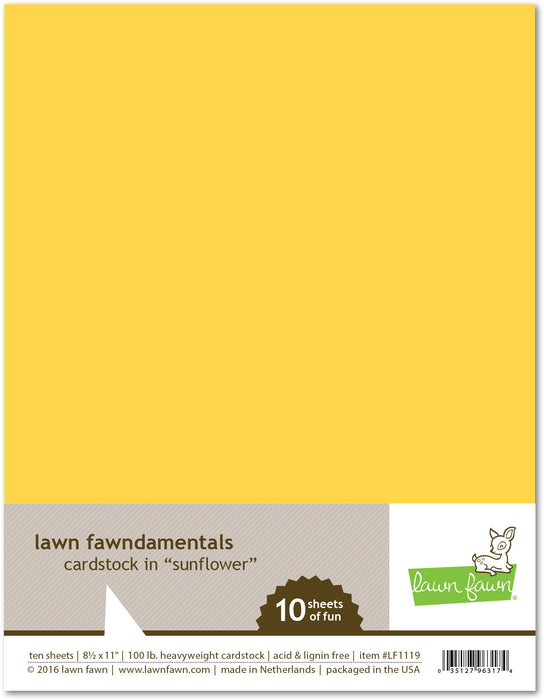 "Lawn Fawn Sunflower Cardstock 8.5"" x 11"" LF1119 