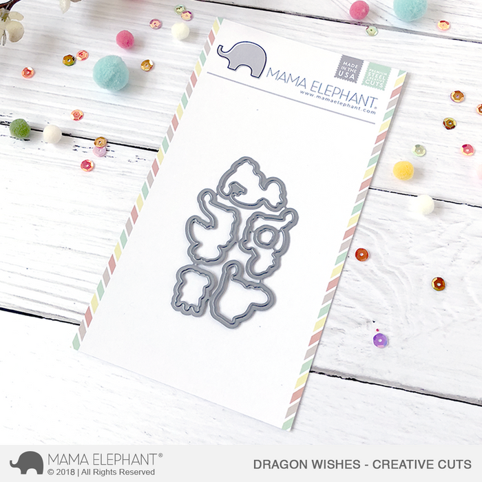 Mama Elephant Creative Cuts Dragon Wishes
